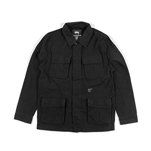 Stussy-Herren-Jacke-Field-Shirt-Jacket-black