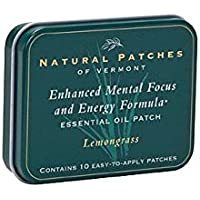 Natural Patches Of Vermont Lemongrass Focus Aid Aromatherapy, 10-Count Tin by Naturopatch Of Vermont
