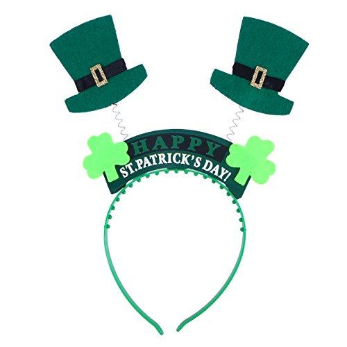(BESTOYARD St. Patrick's Day Kleeblatt Kobold Hut Stirnband Kostüm Zubehör)