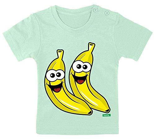 HARIZ Baby T-Shirt Bananen Lachend Früchte Bunt Inkl. Geschenk Karte Zahnpasta Grün 9-15 Monate / 70-79cm (Zahnpasta Für Erwachsene Kostüm)