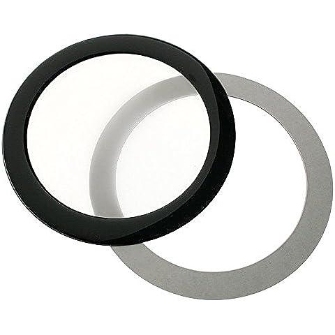 Filtro de polvo DEMCiflex Ronda 92mm - negro / blanco