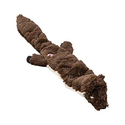 Ethical Pets Beaver Mini Skinneeez Extreme Stuffingless matelassé jouet pour chien, 35,6cm