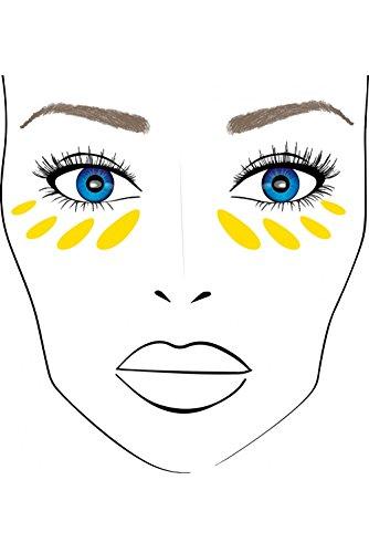 Miss Cop Cover Stick-Correttore di abbronzatura in stick,maschera occhiaie, macchie marroni e tutte le imperfezioni, colore: Giallo / Arancione / Verde (Confezione da 3)