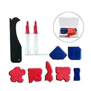 Silicone Sealant Finishing Tools - Silicone Smoothing Caulking Profile Line Joint Corner Tool with Caulk Remover Tool, Sealant Smoother Profiler Former Applicator Edger, 10 Pieces