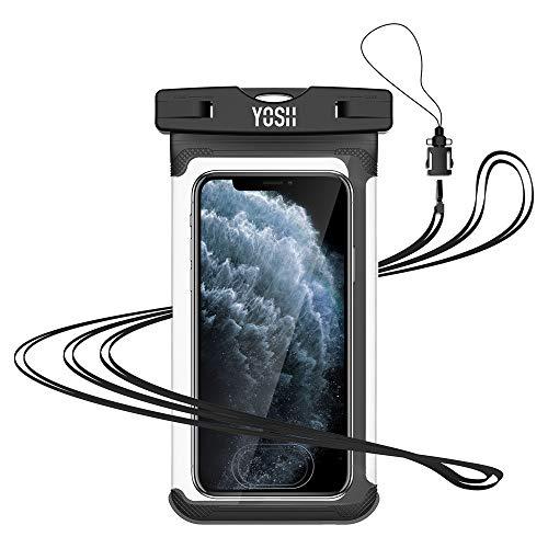 YOSH Pochette Étanche Smartphone [Certifiée IPX8], Pochette Téléphone Étanche pour iPhone 11 Pro Max XR XS Max 8 7 Plus Samsung 10+ S9+ S8+ Huawei P30 P20 Pro Mate20 Xiaomi -up to 6.7''