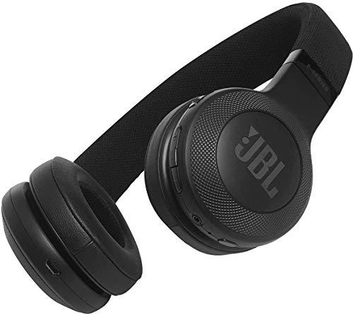 JBL E45BT On-Ear Bluetooth Kopfhörer, Stoff-Kopfbügel – Schwarz - 2