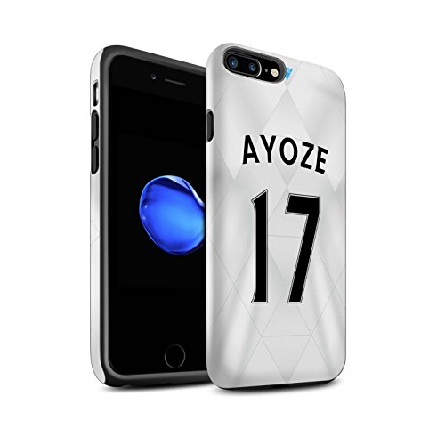 Offiziell Newcastle United FC Hülle / Matte Harten Stoßfest Case für Apple iPhone 7 Plus / Tioté Muster / NUFC Trikot Away 15/16 Kollektion Ayoze