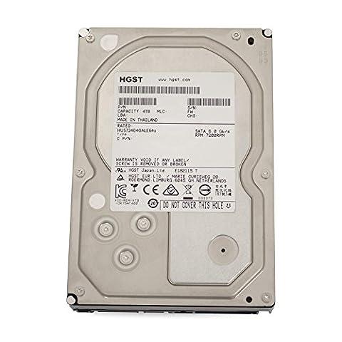 Hitachi HGST UltraStar 7K4000 interne Festplatte, 3,5 Zoll / 8,9cm, SATA, 7200RPM für NAS RAID 24x7 Enterprise (Zertifiziert und Generalüberholt), Kapazität:4.000GB (4TB)