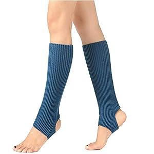 ZGJ AFFE Damen/Mädchen Yoga Socken Beinwärmer Knit Gamaschen Gestrickte Socken für Tanz,Pilates,Fitness