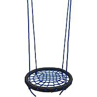 LOO LA Swing & Silla Colgante, niños Pod Hamaca Asiento Colgante Silla Interior al Aire Libre con Gancho y Cuerda,Blue,60cm