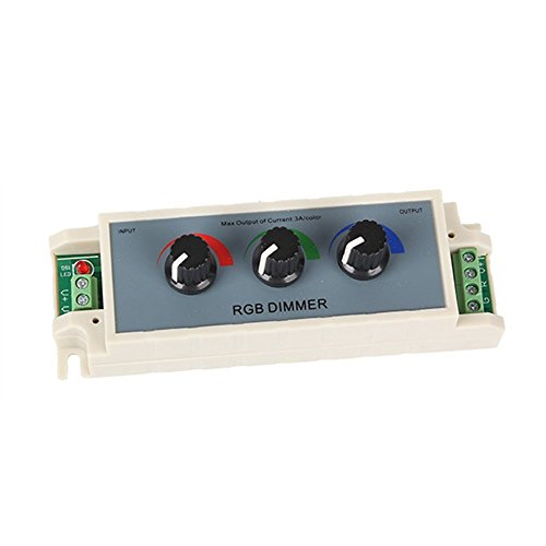 SODIAL(R) DC12V Knob Controls RGB Dimmer Controller for 3528/5050 Led Strip Light -