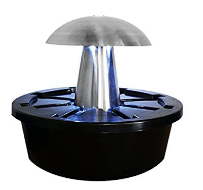Ambiente Abbey Falls -Pilz-Brunnen aus Edelstahl mit LED-Beleuchtung von Primrose auf Du und dein Garten