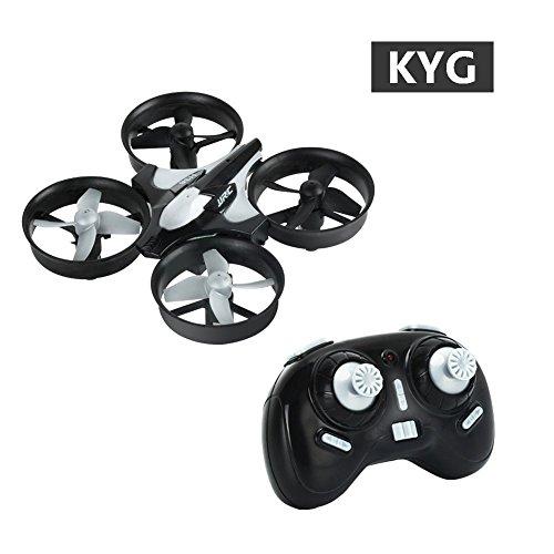 Mini Drone Cuadricóptero 2.4G 4CH Girocompás 6 Ejes Antiaplastamiento con Modo de Retorno y sin Cabeza,  Quadcopter Helicopteros Headless, JJRC H36 color negro