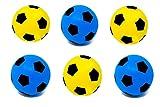 E-Deals Fußball, aus Schaumstoff, Größe 5, 3 Blue + 3 Yellow