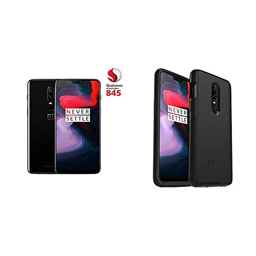 "OnePlus 6 - Smartphone de 6.28"" (Pantalla AMOLED 19:9 FullHD, cámara dual 16+20MP, 8GB de RAM, Color Negro + Otterbox Carcasa antigolpes"