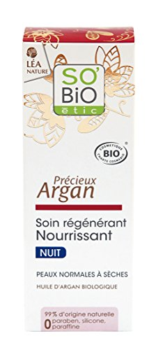 So'Bio etic Soin Regenerant nourrissant Nuit a l'Argan Bio tube de 50 ml