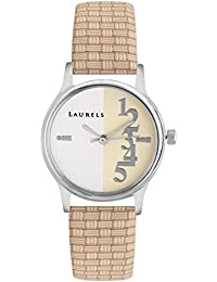 Laurels Orchid White/Ivory Dial Analog Wrist Watch - For Women