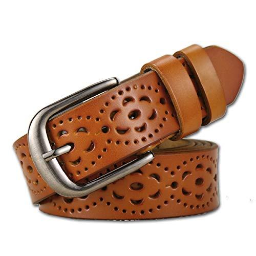 Lalafancy Cinturón de las mujeres de cuero genuino del zurriago...