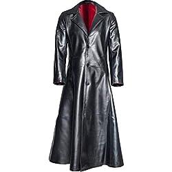 xmansky Halloween Gothic Langes Kleid Vampir Hexe Kleider Cosplay Hexenkostüm Kostüm,Herrenmode Gothic Langer Mantel Ledermantel Kunstlederjacke Jacken S-5XL