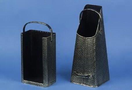 Kohle Pelletschütte Haltegriffen Stahl