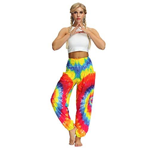 TUDUZ Thai Hippie Hose Hosenrock Haremshose Pumphose für Damen & Herren (Z1 - Orange, S-L) -