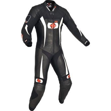 Oxford en cuir rp-3Race Track de Sport de moto pour femme Noir/blanc