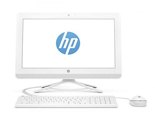 HP All in One 20-c000ns - Ordenador sobremesa Todo en Uno de 19.5' Full HD (AMD Core E2-7110, 4 GB RAM, 1 TB HDD, AMD Radeon R2, Windows 10); Blanco - Teclado QWERTY Español + Ratón