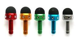 Emartbuy® Bling Bundle Pack von 5 Micro Kapazitive/resistiven Touchscreen Stylus Stift für Apple/Samsung / Sony/Sony Ericsson/Motorola / Nokia-Touchscreen-Smartphones/Tablets