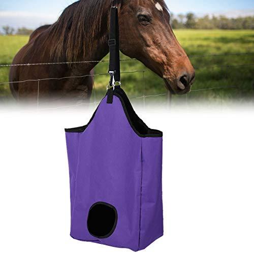 lahomie Heunetz Heu,Heu-Tasche für Pferde Große Kapazität Oxford Stoff Horse Hay Einkaufstasche Feed-Zubehör Farm Supplies für Pferde Kühe Esel(Lila)