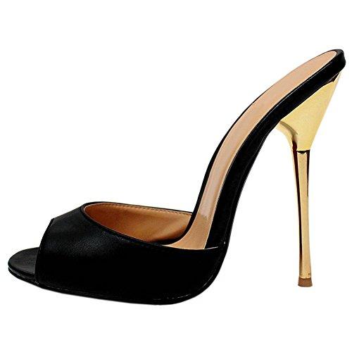 fereshte , sandales femme Noir - Noir mat