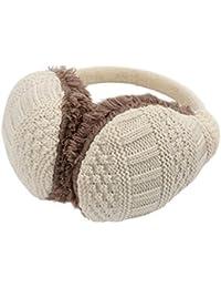 LATH.PIN Cache Oreille Unisexe Fourreau d'oreilles d'hiver en laine amovible pour les femmes