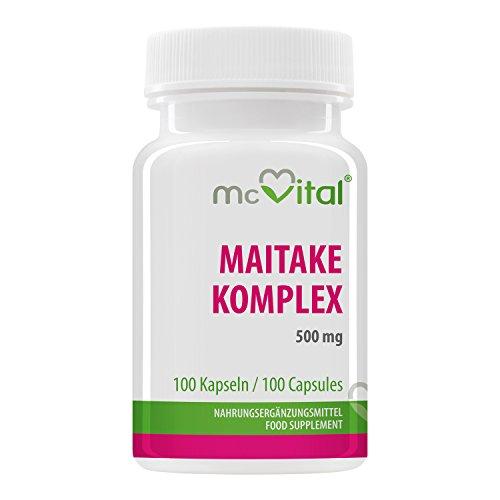 Maitake Komplex 500 mg - Abwehrkräfte - Mehr Stress Resistenz - Verhilft zu Idealgewicht - 100 Kapseln (Die Gesundheit Der Leber Formel)
