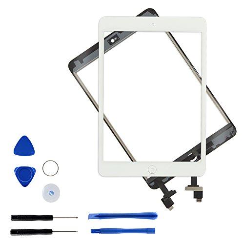 lay Touchscreen Digitizer Panel Glas Ersatzteile Vorderer 7.9 Inch Bildschirm mit IC Chip Home Button und Werkzeugset für A1432 A1454 A1455 A1489 A1490 A1491 Weiß ()