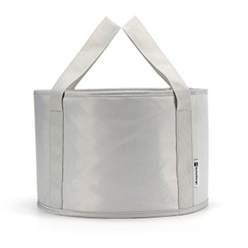 Lavabos de Salle de Bain Pliable lavabo Portable Pliant Multifonctionnel lavabo Tourisme extérieur Bassin Pique-Nique Fournitures (Color : Gray, Size : 31 * 20 cm)