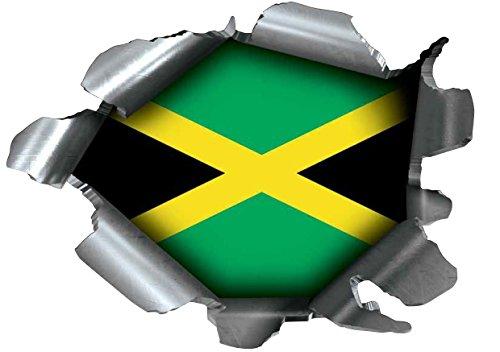 emons Pride Burst Rip Torn Reißfestigkeit Aufkleber Graphic, Selbstklebend, für Jede Oberfläche inkl. Laptops und Autos-Jamaica Jamaika Flagge ()
