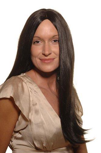 WIG ME UP ® - SA-151-1 Perücke, schwarz, wie Pocahontas (Frauen Pocahontas Kostüm)