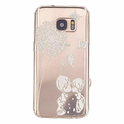 MOTOUREN Housse Pour Samsung Galaxy S7 Ultra-minces TPU Silicone Shell Cas Coque Étui Case Cover - Les amateurs de pissenlit et de petits