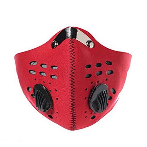 Laduup Staubmaske Skimaske Half Face Gesichtsmaske Motorradmaske Sturmhaube Auto Schwarz Wind Staub Kalt Schutz Gesichtsmaske Filter für Radfahren Fahrrad Motorrad