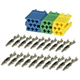 Mini-ISO-Buchsengehäuse SET 3 Stecker + 20 Kontakte BLISTER
