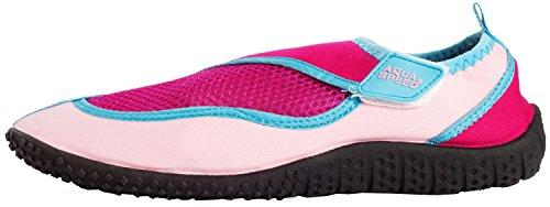 AQUA-SPEED Scarpe Di Acqua Per Spiaggia - Mare - Lago - Pantofole Ideale Come Protezione Per I Piedi - #As26 Rosa/Rosa Chiaro/Blu