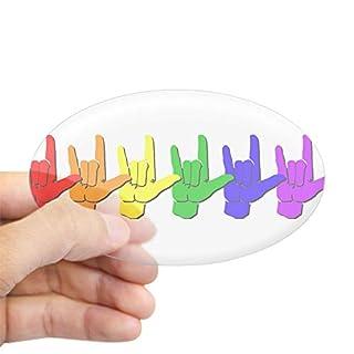 CafePress I Love You Colorful Oval Bumper Sticker Car Decal