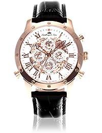 Lindberg & Sons Herren-reloj analógico de pulsera automático de cuero SK14H003