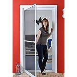 Premium slanke vliegenhor voor deur als aluminium bouwset met glasvezel - professionele bescherming tegen insecten 100 cm x 2