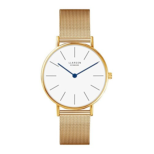 LARS Larsen Luka Gold con Milan ponte 37 mm Watch