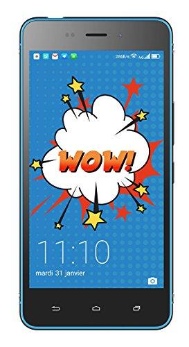 """Hisense C30 Rock Lite - Smartphone de 5"""" (4G, Memoria Interna de 16 GB, 2 GB RAM, cámara de 8 MP, Dual Sim, Android 7.0 Nougat), Color Negro y Azul"""