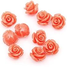 ILOVEDIY 10/20pcs flores Coral cuentas para collar pulsera bisutería 10/12/15mm