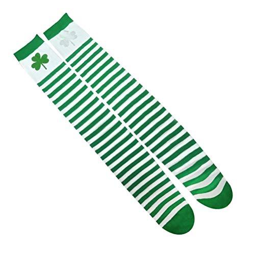 Patrick St Kind Kostüm - Amosfun St Patrick's Day Warmers Baumwollgamaschen DREI Kleeblatt Muster Socken Warmers Kostüm Zubehör für St Patrick's Day Party Supplies Kinder Geschenk
