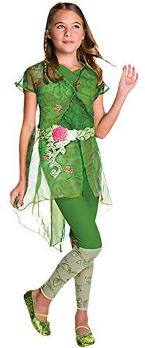 Zauberclown - Mädchen Karneval Kostüm Poison Ivy Wald Elfe , Grün, Größe 98-104, 3-4 (Halloween Mädchen Kostüme Xmen)