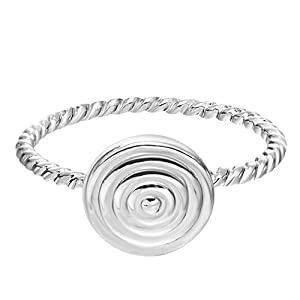 Chandler Everyday Accessories Inca Spiral Twisted Love Valentine's Toe Ring Minimalist Jewelry Midi Ring for Women Girl Gift