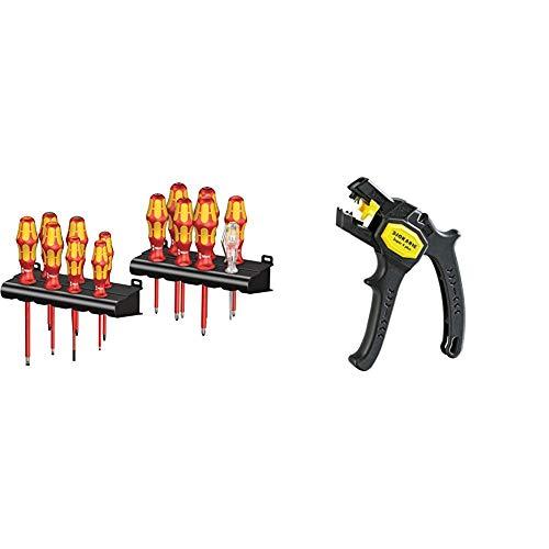 Wera Kraftform Big Pack 100 VDE, Schraubendreher Set 14-teilig, 05105631001 & Jokari 20050 Abisolierzange Super 4 plus